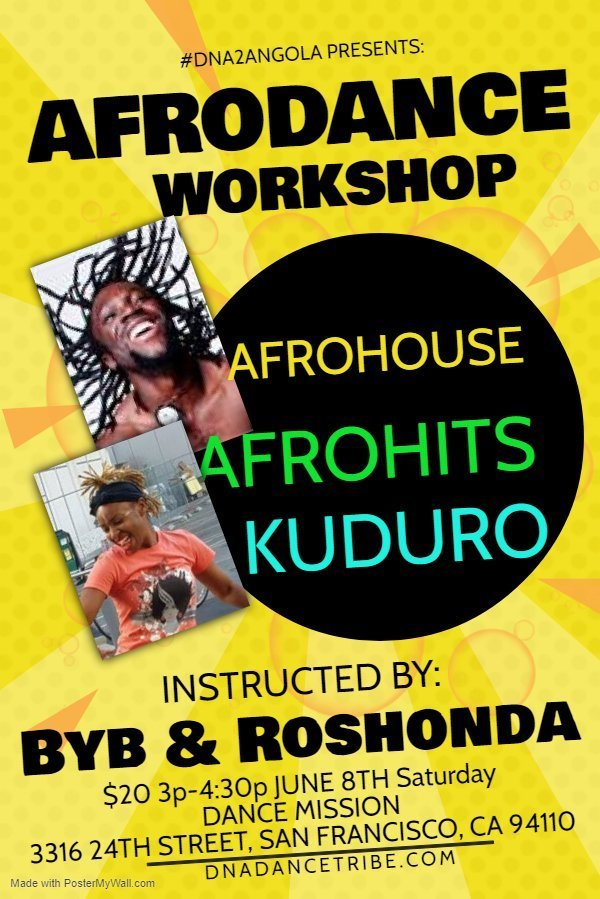 June 8: Afro Dance Workshop